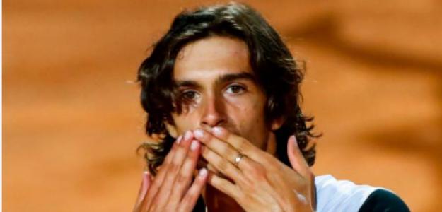 Lorenzo Musetti celebra en Roma. Fuente: Getty