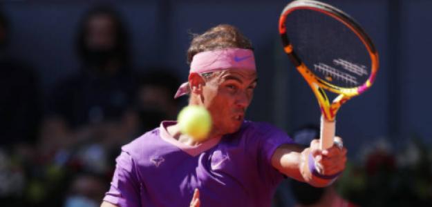 Nadal, en su debut en Madrid. Fuente: Getty