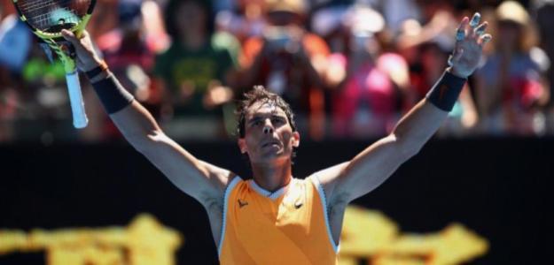 Nadal accedió a los cuartos de final del Open de Australia. Foto: Getty