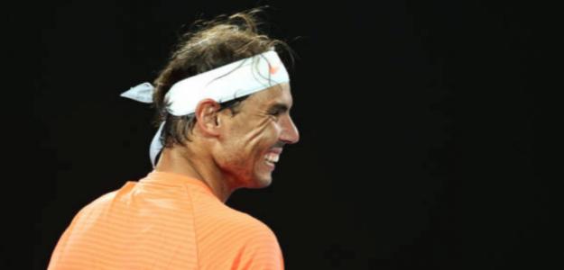 Rafa Nadal se divierte y ya está en tercera ronda. Foto: Getty