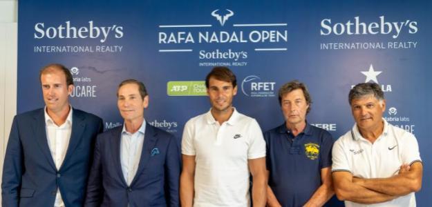 Rafael Nadal en presentación ATP Challenger Sothebys 2019. Foto: rafanadalacademy