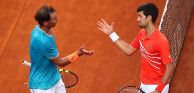 Rafael Nadal y Novak Djokovic, números 1 pocos puntos. Foto: gettyimages