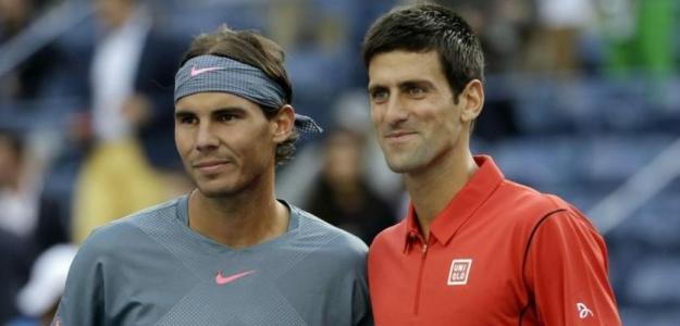 Rafael Nadal y Novak Djokovic, opciones de ranking. Foto: gettyimages