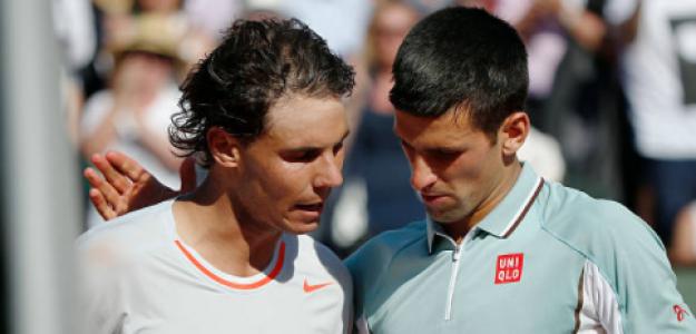 Nadal y Djokovic tras las semis de 2013. Fuente: Getty