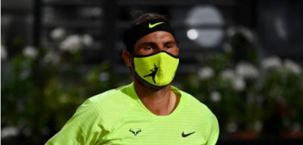 Rafael Nadal se prepara para su partido ante Schwartzman. Fuente: Getty