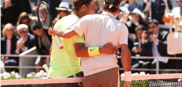 Roger Federer, cara a cara perdido con Nadal