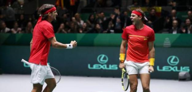 Nadal y Feliciano hicieron posible una nueva final española en la Davis. Foto: Getty