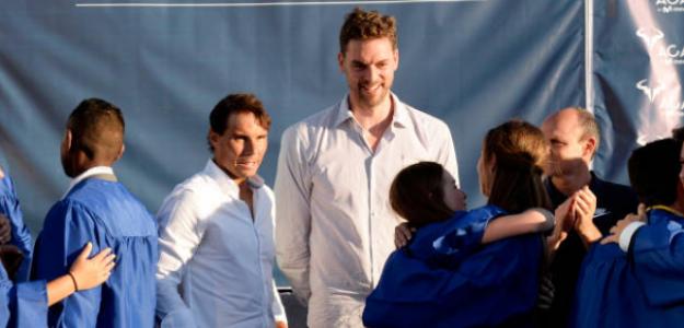 Nadal y Gasol, en un evento de la Academia del mallorquín. Fuente: Getty