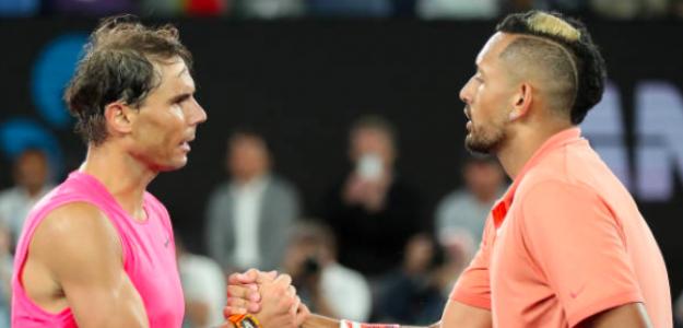 Rafa Nadal y Nick Kyrgios. Fuente: Getty