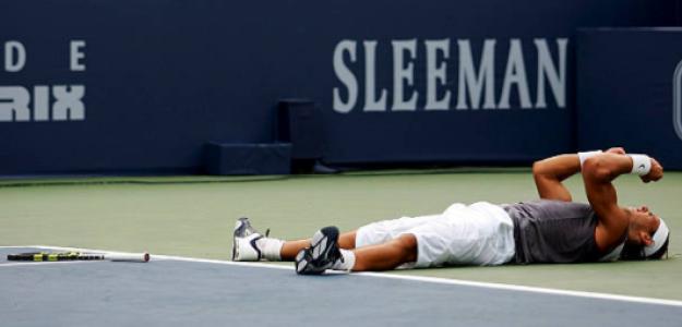 Rafa Nadal celebra el título en Montreal 2005. Fuente: Getty
