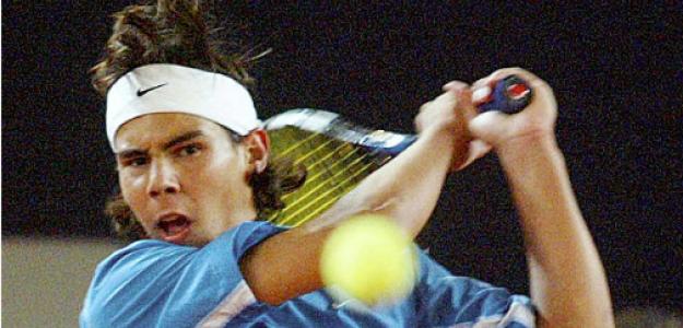 Rafael Nadal, en el partido ante Moyá en Hamburgo 2003. Fuente: Getty