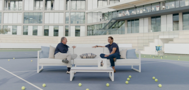 Bertín Osborne y Rafael Nadal. Fuente: Bertín Osborne en Twitter.
