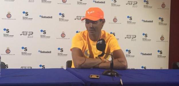 Rafa Nadal durante su rueda de prensa hoy en el Godó. Foto: Fernando Murciego