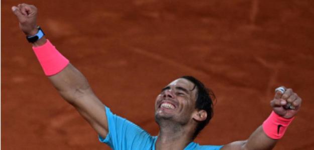 Rafa Nadal en rueda de prensa hoy. Foto: Eurosport