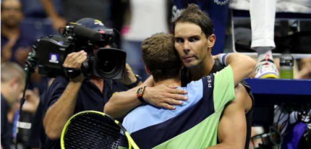 Nadal y Schwartzman tras su duelo en Nueva York. Fuente: Getty