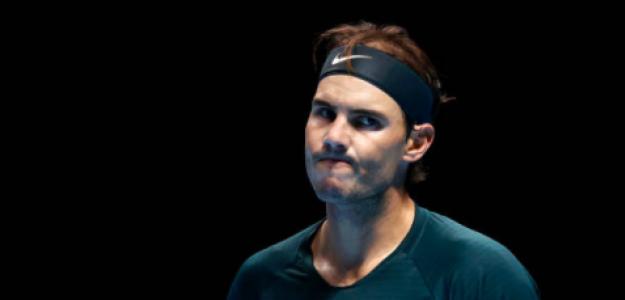 Rafael Nadal en su duelo ante Tsitsipas. Fuente: Getty