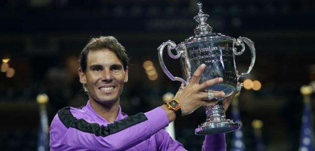 Rafa Nadal con su título en Nueva York 2019. Fuente: Getty