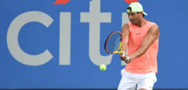 Rafael Nadal ya entrena en Washington. Fuente: Getty