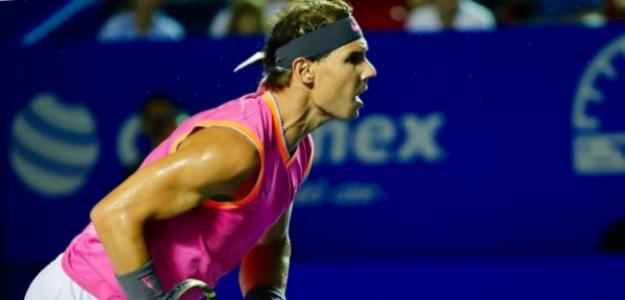Rafa Nadal superó la primera ronda en Acapulco. Fuente: Getty