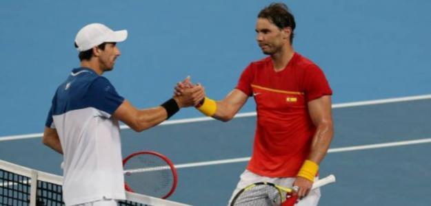 Nadal abruma a Cuevas y da la victoria a España. Foto: Getty