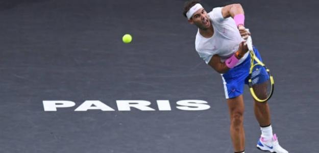 Nadal impone su ley ante Tsonga en Paris-Bercy. Foto: Getty