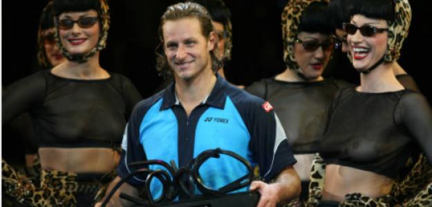 David Nalbandián, con el trofeo de campeón del Paris Masters. Fuente: Getty