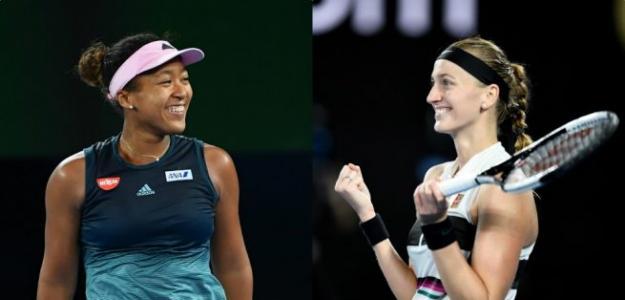 Naomi Osaka y Petra Kvitova en Open de Australia 2019. Foto: zimbio
