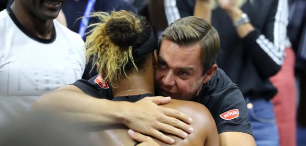 Sascha Bajin en US Open 2018 con Naomi Osaka. Foto: zimbio