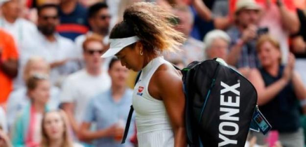 Naomi Osaka en Wimbledon. Foto: Getty Images