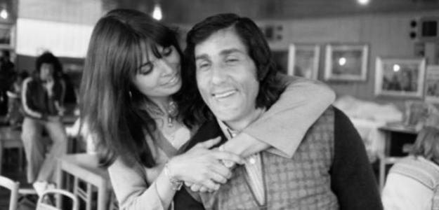 Ilie Nastase con su primer amor, Dominique Grazia. Fuente: Getty