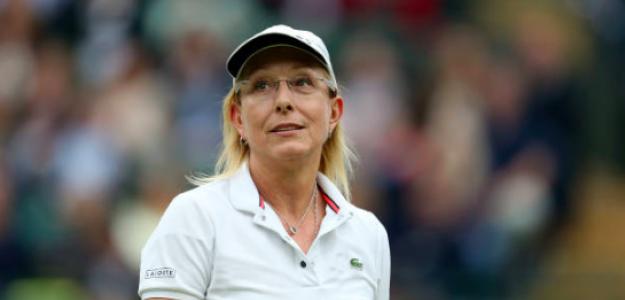 Martina Navratilova, leyenda en Wimbledon. Fuente: Getty