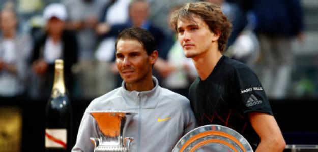 Alexander Zverev, tras la final de Roma ante Nadal. Fuente: Getty