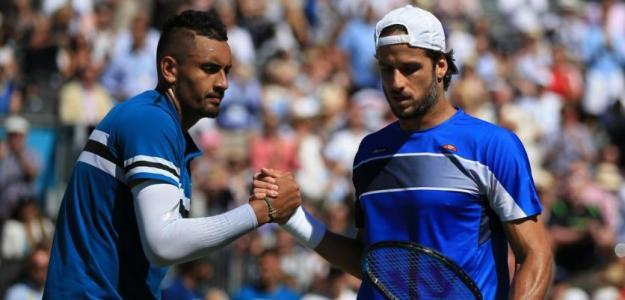 Nick Kyrgios y Feliciano López. Foto: Getty