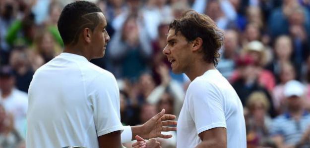Rafael Nadal y Nick Kyrgios. Foto: Getty