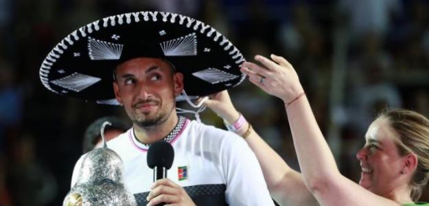 La mirada de Nick Kyrgios, nuevo campeón de Acapulco. Fuente: Getty