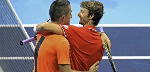 Nicolás Almagro y Juan Carlos Ferrero. Foto: ATP