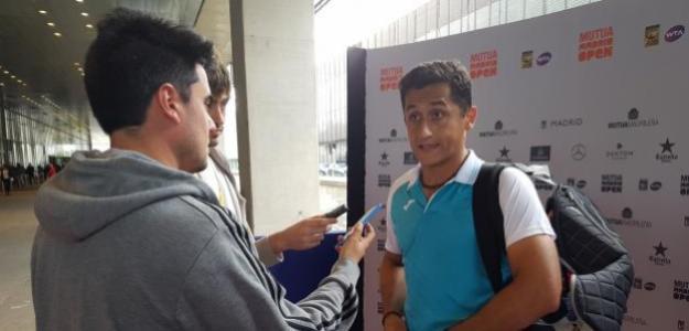 Nico Almagro en zona mixta. Foto: Punto de Break