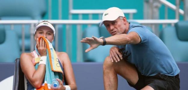 Nigel Sears, actualmente entrenando con la estonia Anett Kontaveit.