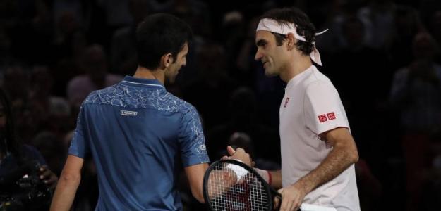 Novak Djokovic y Roger Federer. Foto: Getty
