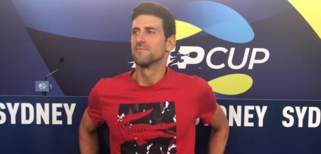 Novak Djokovic en ATP Cup. Foto: Getty Images
