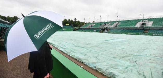 Las lluvias no han dejado que se dispute tenis al aire libre en Nottingham. Foto: LTA