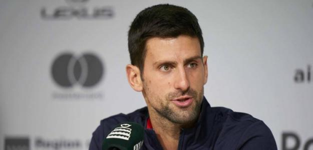 Novak Djokovic en sala de prensa. Fuente: Kosmos Tenis