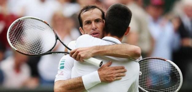 Stepanek y Djokovic. Foto: Wimbledon