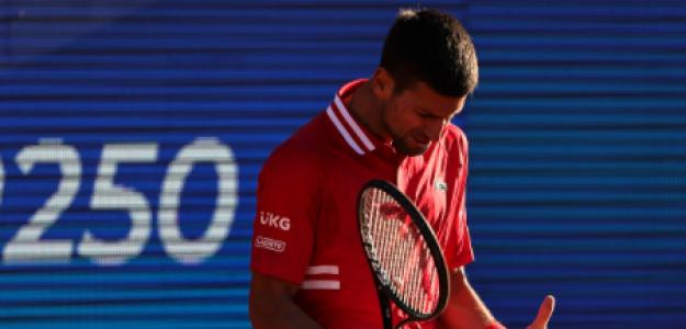 Novak Djokovic pierde con Aslan Karatsev en Belgrado. Foto: gettyimages