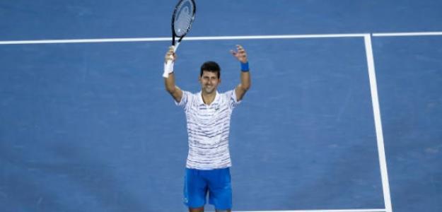 Djokovic y su típico festejo. Foto: Getty