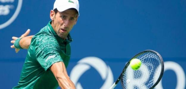 Novak Djokovic en su estreno en Toronto.