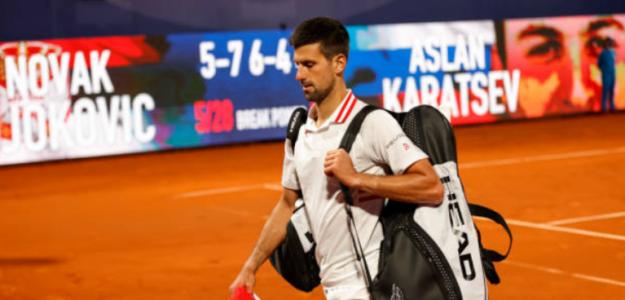 """Novak Djokovic: """"Es una derrota dolorosa y decepcionante"""". Foto: Getty"""