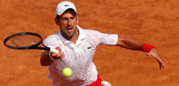 Novak Djokovic gana a Salvatore Caruso en ATP Masters 1000 Roma 2020. Foto: gettyimages