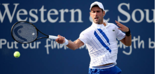 Novak Djokovic gana a Jan-Lennard Struff en Cincinnati 2020. Foto: gettyimages