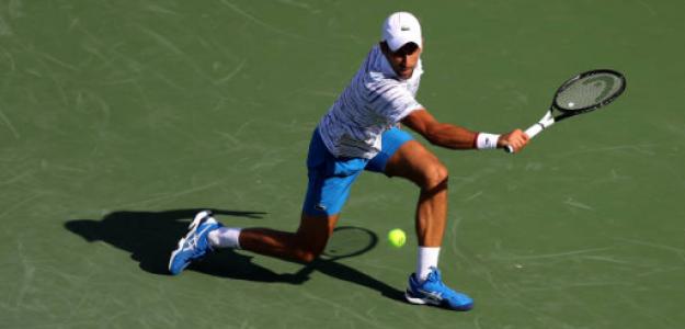 Novak Djokovic, durante su partido de primera ronda. Fuente: Getty